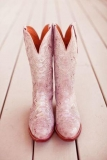 Pink Wedding Cowgirl Boots
