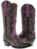 Purple Cowgirl Boots for Wedding