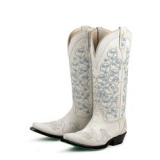 Women's White Wedding Cowgirl Boot
