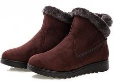 Wedge Ankle Boots with Fur
