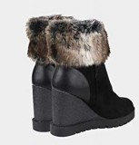 Wedge Heel Ankle Boots with Fur
