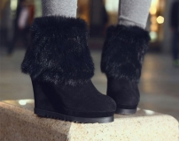 Boots with Wedge and Fur