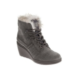 Short Wedge Boots With Fur