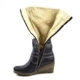 Wedge Ankle Boots with Inside Fur