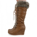 Wedge Boots Fur