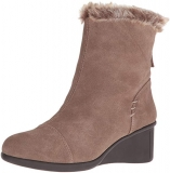 Wedge Boots with Fur Trim