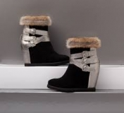 Wedge Boots with Fur