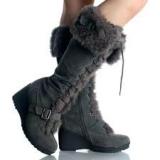 Wedge Fur Boot