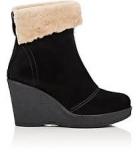 Wedge Heel Fur Boots