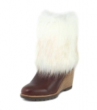 Womens Wedge Boots with Fur