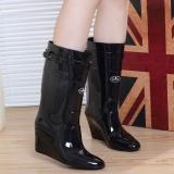 Ladies Wedge Rain Boots
