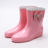 Pink Wedge Rain boots