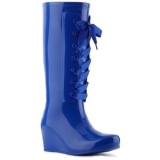 Lace Up Wedge Rain Boots