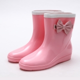 Pink Wedge Rain boots