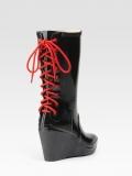 Rubber Wedge Rain Boots