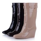 Wedge Heel Rain Boots