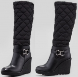 Knee High Wedge Snow Boots