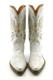 Gold and White Cowgirl Boots