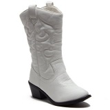 Kids White Cowgirl Boots
