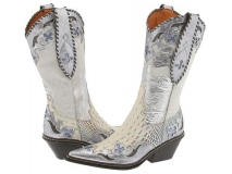 Ladies White Cowgirl Boots