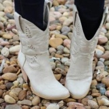 Off White Cowgirl Boots