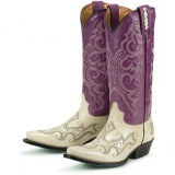 Purple and White Cowgirl Boots