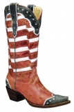 Red and White Cowgirl Boots