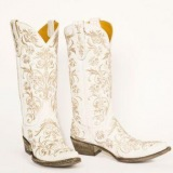 White Bedazzled Cowgirl Boots