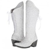 White Bridal Cowgirl Boots