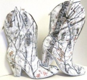 White Camo Cowgirl Boots