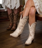 White Cowgirl Boots Wedding