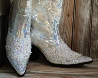 White Cowgirl Boots with Bling