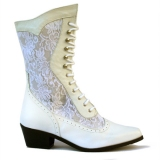 White Lace Cowgirl Boots