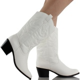 White Round Toe Cowgirl Boots