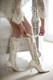 White Wedding Cowgirl Boots
