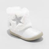 Girls White Fur Boots