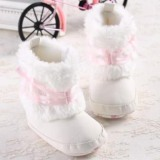 White Fur Boots Baby