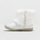 White Fur Boots for Girls