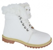 White Fur Lined Boots