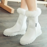 White Fur Snow Boots