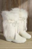 Fur White Boots