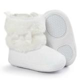 Kids White Fur Boots