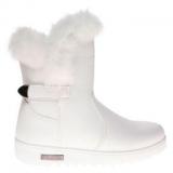 Ladies White Fur Boots
