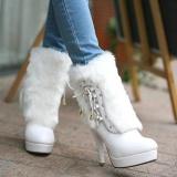 White Boots Fur