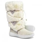 White Faux Fur Boots