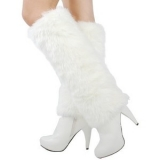 White Fur Boots Womens