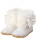 White Fur Boots for Toddlers
