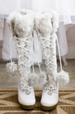 Winter White Boots with Fur