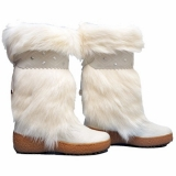 Womens White Fur Boots