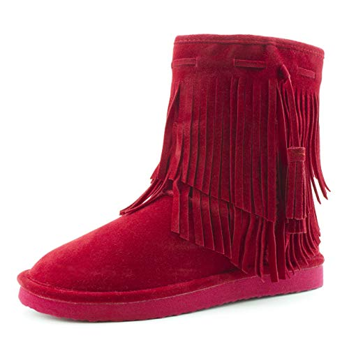 Wide Calf Fringe Boots For Women